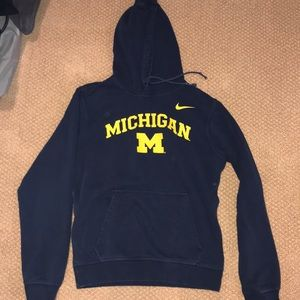 Nike University of Michigan hooded sweatshirt Sm